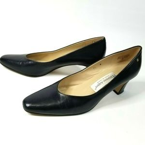 "Navy Blue ""Taylor"" Heels Made in Spain SH 0067P"